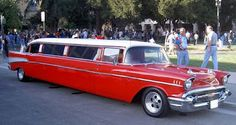 57  Chevy Limo! Please drive me to the church on my wedding day :)