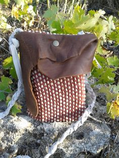 Small Messenger bag / Leather Canvas Crossbody by LunaBagDesigns