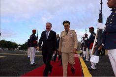 Presidente Medina sale hacia toma de posesión en Haití