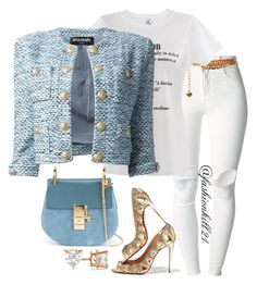 """""""Fabulousness"""" by fashionkill21 ❤ liked on Polyvore featuring (+) PEOPLE, Christian Louboutin, Yves Saint Laurent, Balmain, Chloé, Allurez, women's clothing, women, female and woman"""