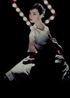 Audrey Hepburn photographed by Allan Grant, 1956.