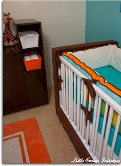 Love the use of brown and blue and orange