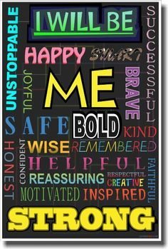 I Will Be - Color - NEW Classroom Motivational Poster: Office Products