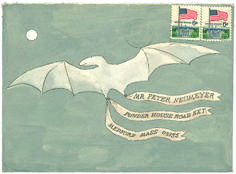 Personal correspondence and illustrated envelopes of the one and only Edward Gorey
