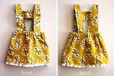 Mini person pinafore dress