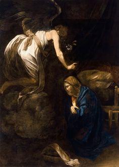 The Annunciation / L'Annonciation // 1608-1610 // Carravagio // Musée des Beaux-Arts de Nancy