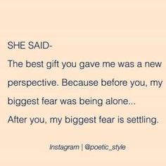 I never want to settle, I want to feel amazing everyday of my life knowing I've got an amazing soul as my wife (Divorce Encouragement) The Words, Favorite Quotes, Best Quotes, Under Your Spell, Encouragement, Word Porn, Quotes To Live By, I Got Me Quotes, Know My Worth Quotes