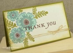 Thank You Card by Nichole Heady for Papertrey Ink (April 2013)