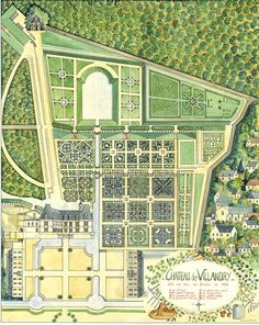 drawing of the garden   Chateau de Villandry