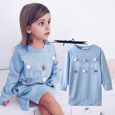 Girls Sweater Dress, Long Sleeve Sweater Dress, Sweatshirt Dress, Girls Sweaters, Dance Dresses, Girls Dresses, Toddler Dance, Tutu Party, Baby Girl Princess