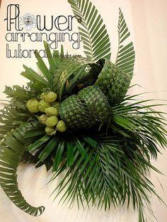 Palm Sunday Church Flower Arrangements | Step by Step Tutorial: Wall Décor on Palm Sunday 2013