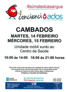 CORES DE CAMBADOS: CAMPAÑA DE DOAZÓN DE SANGUE