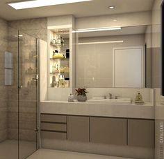 Banho do casal by Claudiny Arquitetura @_decor4home