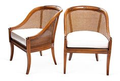 French-Style Barrel Back Chairs, Pair from Trove Decor on OKL (899; retails 1400)