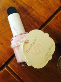 Bridal Shower Favor Idea - Nail Polish With Mini Emery Board & Wedding Cookies