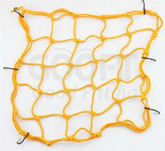 GOOFIT 15 x 15 Elasticated Bungee Luggage Cargo Net with Hooks Hold Down for Motorcycles Motorbike ATVs Bikes Cars Trucks Black