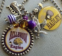 PERSONALIZED Cheer necklace Senior gift School Mascot by buttonit, $25.50