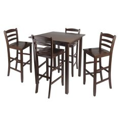 Winsome Parkland High Table with 29Inch Ladder Back Stools 5Piece * For more information, visit image link.Note:It is affiliate link to Amazon.