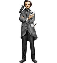 Edgar Allan Poe Quotable Greeting Card and Stickers