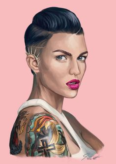 jessl-art:  Finished digital painting of Ruby Rose