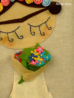Frida Kahlo Felt Doll ❤