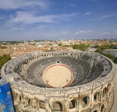 Roman Arena in Nîmes, Gard, France Nimes France, Ancient Ruins, Ancient Rome, Monuments, Pont Du Gard, Sainte Marie, Brin, Greatest Mysteries, France Travel