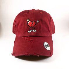 Maroon HeartBreakerClo Dad Hat  www.heartbreakerclo.com shop now !