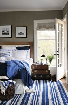 Blue Bedding from Lexington Company Home Collection Spring 2015.