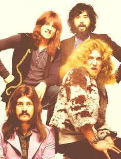 Led Zeppelin lookin' goofy cute