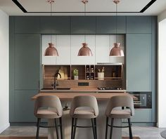 Luxury Kitchen - Regardless of whether you're planning for a move to another house or you essentially need to a kitchen redesign, these astounding kitchen Minimalist But Luxurious Kitchen Design thoughts will prove to be useful. Kitchen Room Design, Luxury Kitchen Design, Best Kitchen Designs, Luxury Kitchens, Home Decor Kitchen, Rustic Kitchen, Interior Design Kitchen, Modern Interior Design, New Kitchen