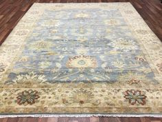 Blue and Beige Large Mahal Oriental Rug 8'2X10