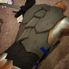 Day 2  Back of the new armor project.  Materials are Eva foam and craft foam.