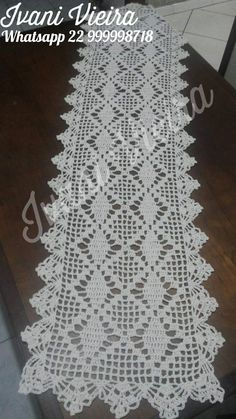 Crochet Table Runner, Doilies, Table Runners, Free Crochet, Diy And Crafts, Cross Stitch, Blog, Ribbon Embroidery, Amigurumi