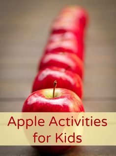 Fall Apple Activities for Kids-Simple sensory play and learning activities for fall #preschool #kindergarten #fallactivities #appletheme