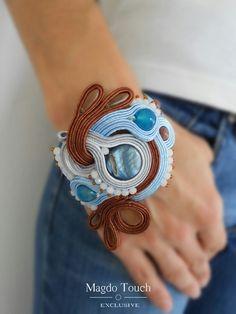 OOAK soutache bracelet. Made by order. Piece from mini collection 'Le petit jardin' #soutache #bracelet #unique #modern #design #magdotouch #artistic #jewelry