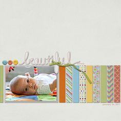 #papercraft #scrapbook #layout. Beautiful Emma...baby layout