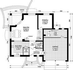 Rzut ARD Kasztan 2 paliwo stałe CE Bungalow House Design, Design Case, Window Design, My House, House Plans, Floor Plans, Lights, Houses, Windows