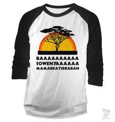 Basowenya Baseball Shirt - Thug Shirt - Ideas of Thug Shirt - baaaa sowenya mamabeatsebabah! Disney Shirts, Disney Outfits, Cute Outfits, Disney Clothes, Disney Fashion, Cool Shirts, Funny Shirts, Thug Life Shirts, Lion King Shirt
