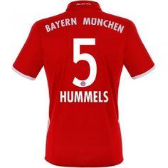Fodboldtrøjer Bundesliga Bayern Munich 2016-17 Hummels 5 Hjemmetrøje