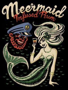 I love the mermaid, take the glass out of her hand and it would be perfect! :D