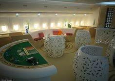 One private jet design even includes a poker table as part of a casino theme on board