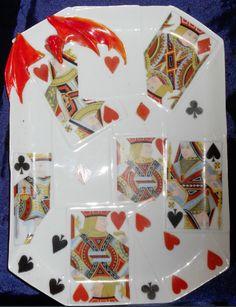 Royal Bayreuth Devil and Card tray