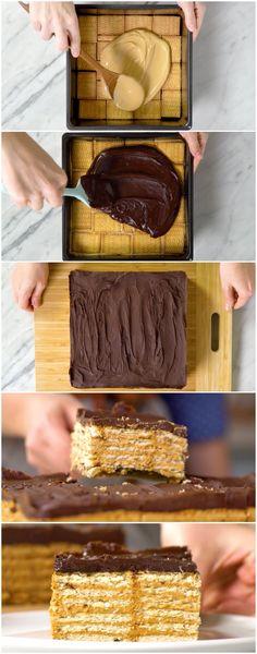 Torta em Camadas, fácil e rápida! ( veja a receita passo a passo ) #torta #tortaemcamadas #tortafácil #sobremesa #tastemade