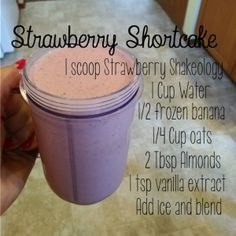 Arbonne Discover Shakeology - The Colbert Clan Strawberry Shakeology Shakes, Beachbody Shakeology, Herbalife Shake, Herbalife Recipes, 310 Shake Recipes, Protein Shake Recipes, Protein Shakes, Milkshake Recipes, Smoothie Recipes