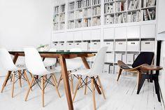 cherry blossom blog: wood & white & studio space love