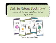 Free back-to-school bookmarks to give your students on the first day of school