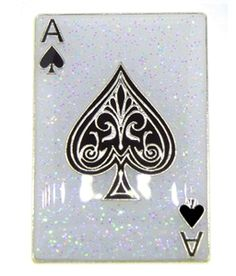 Mark Your Spot with GLITZY Ace of Spades Playing Card Golf Ball Marker with Magnetic Hat Clip!