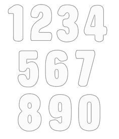 Free Printable Block Letters and Numbers for Scrapbooking