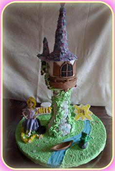Rapunzel tangled tower birthday cake8!! Τούρτα Rapunzel8!!