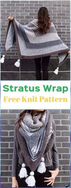 Knit Stratus Wrap Free Pattern - Knit Scarf Wrap Free Patterns